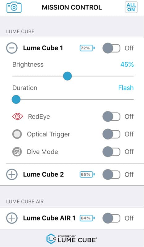 Lumecube application for iOS iPhone Android smartphone