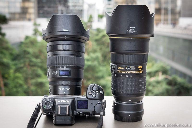 Comparative Nikkor Z 24-70mm f/2.8 vs. AF-S Nikkor 24-70mm F/2.8E ED VR