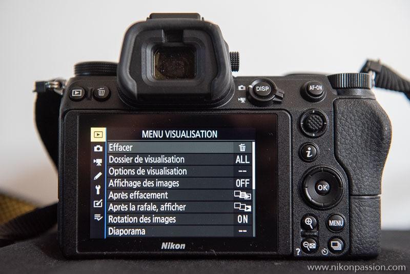 How to set up a Nikon hybrid: View menu