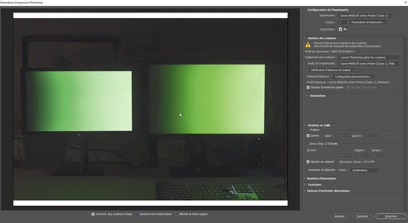 BenQ SW2700 screen test
