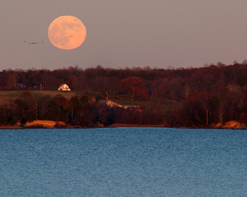 Photo Moonrise example landscape focal length