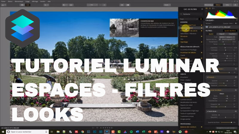 Tutorial Luminar filters, workspaces, and looks, how to use them