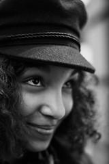 black and white photo portrait woman