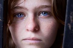 portrait photo woman blue eyes tears