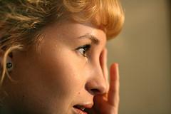 portrait photo woman profile