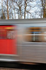 photo train motion blur Danger of death