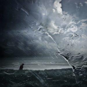 Photo Rain wiper beach wiper landscape composition