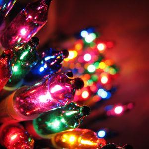 Christmas lights rules composition bokeh