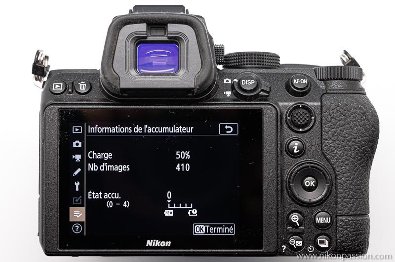 Nikon Z 5 test: indication of the range at half load