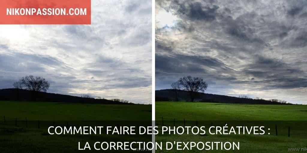 Adjust exposure for creative photos