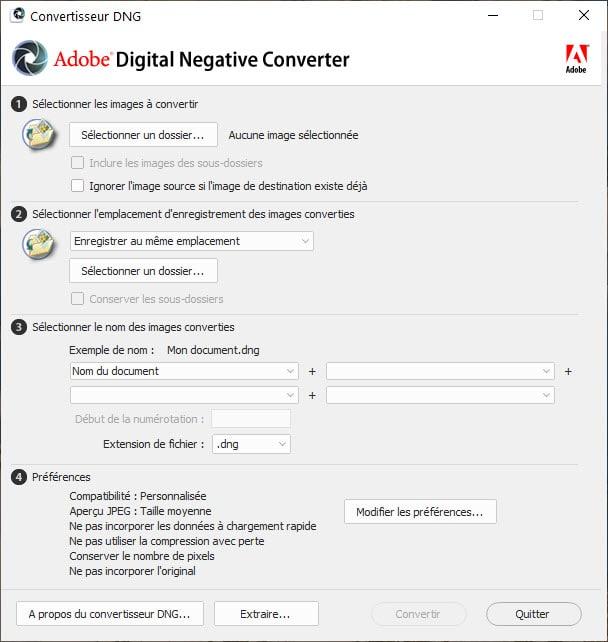 Install Adobe DNG Converter