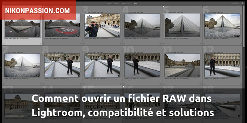 How to open a RAW file in Lightroom, compatibility and solutions