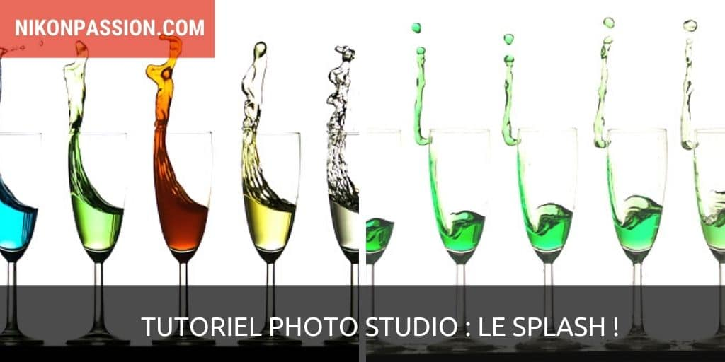 Photo studio tutorial: how to make a liquid squirt out of several glasses, the splash!